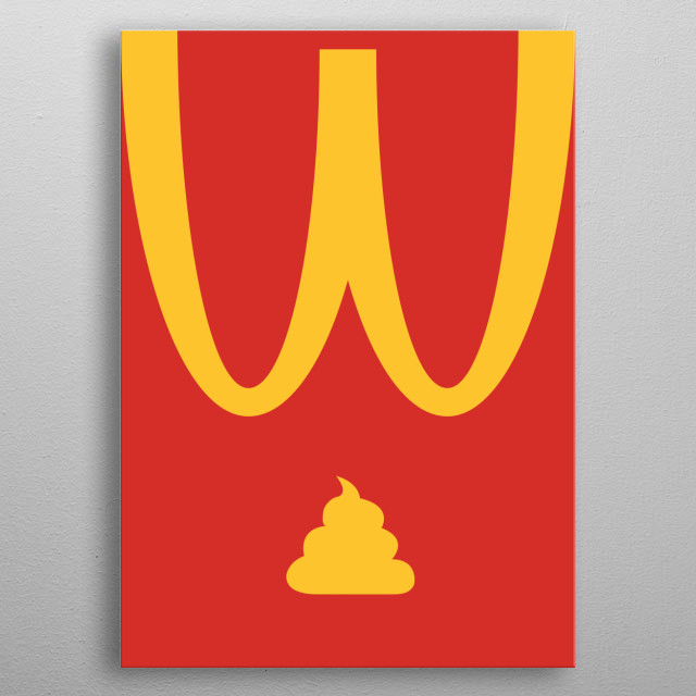 Fastfoods cause the most problems with indigestion metal poster