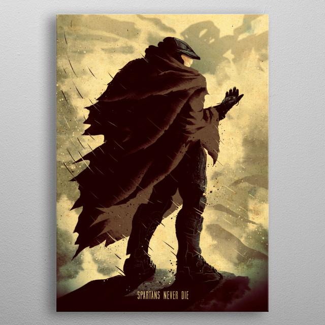 Spartan Veteran metal poster
