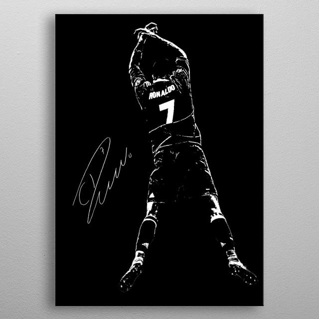 Illustration of Cristiano Ronaldo metal poster