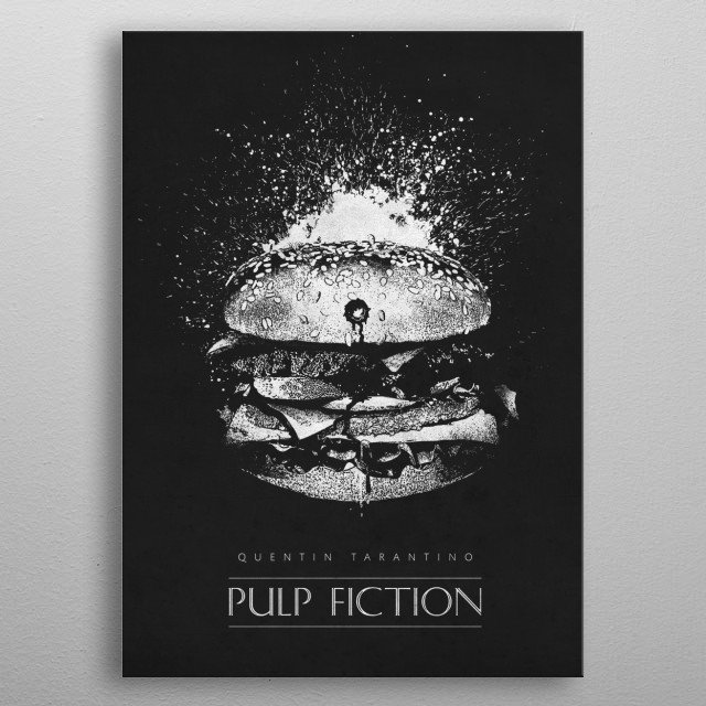 Pulp Fiction Royale metal poster