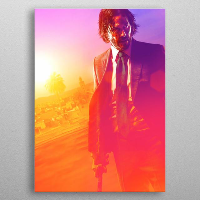 Keanue Reeves as the Boogeyman on his new movie. metal poster