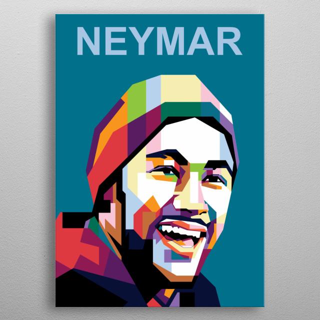 Neymar junior psg barcelona santos metal poster
