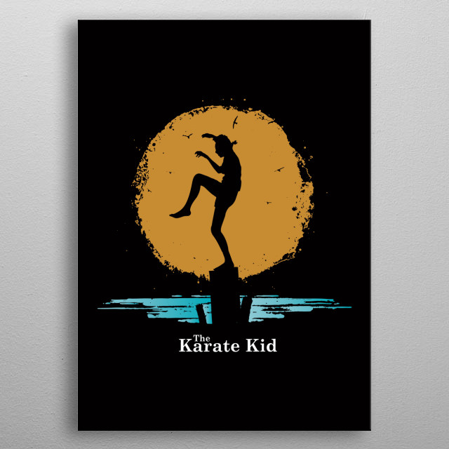 Fine art Classic Movie Daniel LaRuss in The Karate Kid metal poster