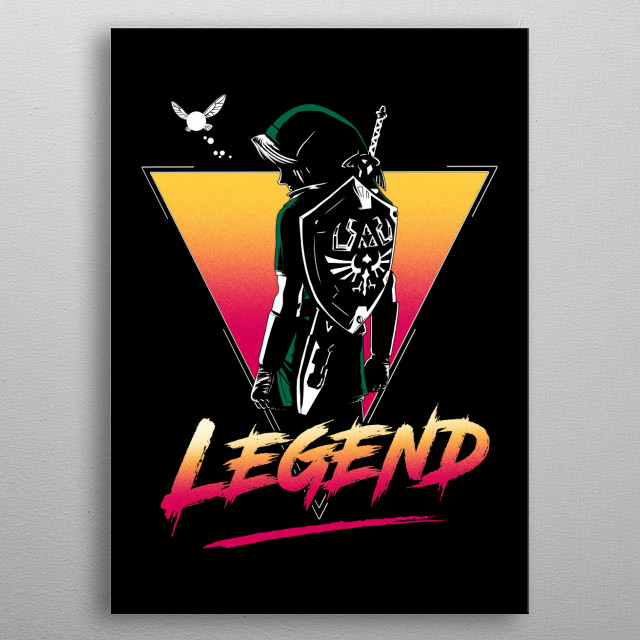 Retro Link metal poster