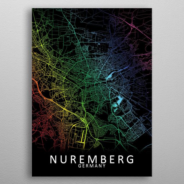 Nuremberg, Germany metal poster