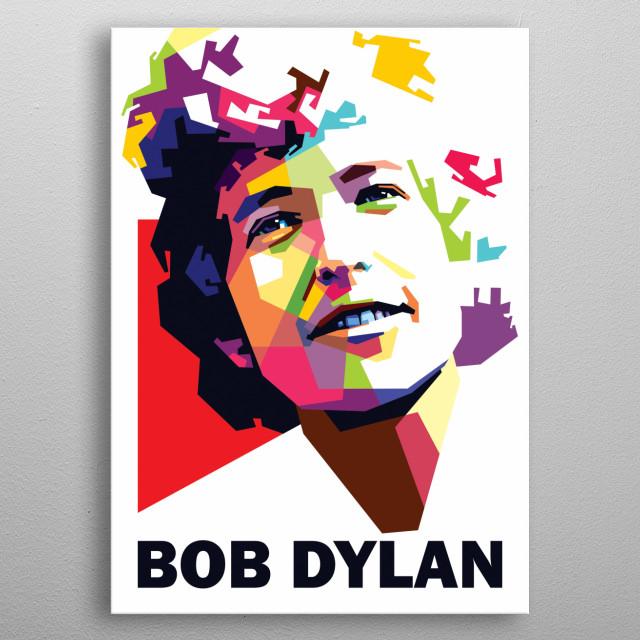 Bob Dylan pop art. metal poster