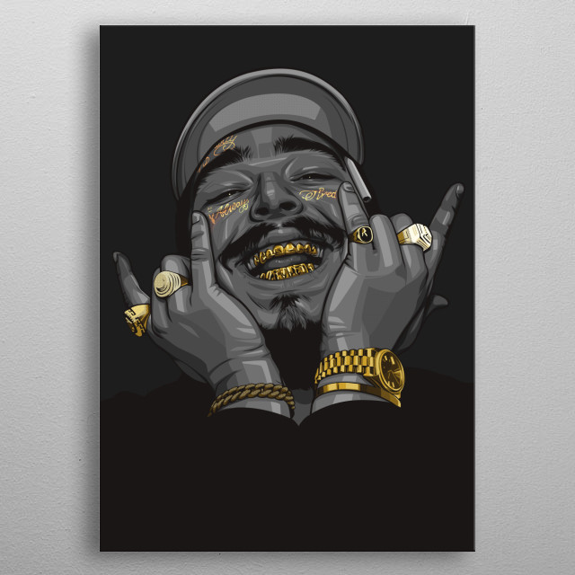 Black and Gold post malone poster metal poster