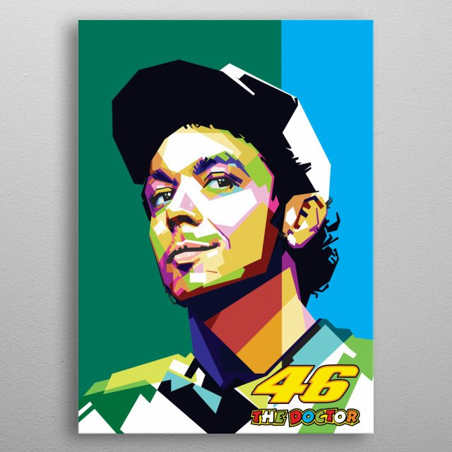 Valentino rossi the doctor metal poster