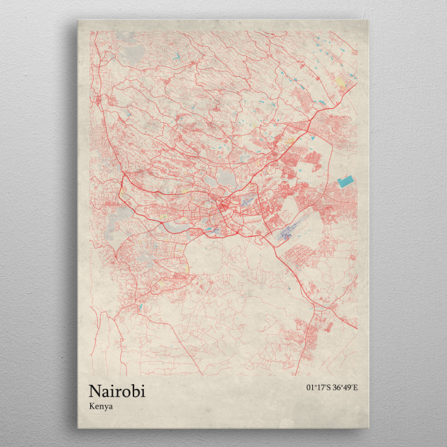 High-quality metal print from amazing Oldschool Maps collection will bring unique style to your space and will show off your personality. metal poster