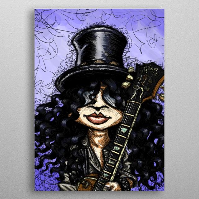 Sketch of Slash! metal poster
