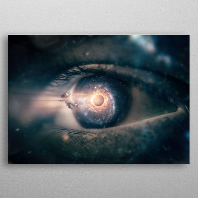 Some eyes have seen more than others. metal poster