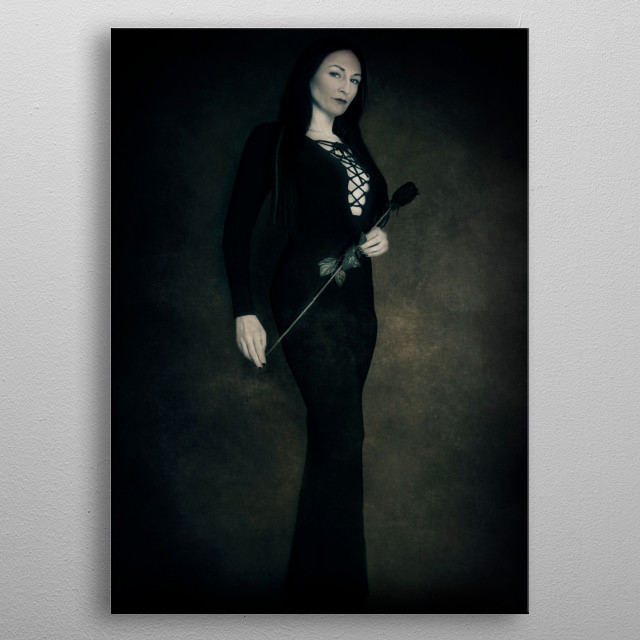 Inspired By The  Addams Family and Morticia Addams metal poster
