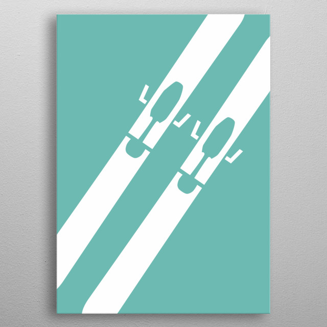 Minimal sports poster, using an element of each sport  metal poster