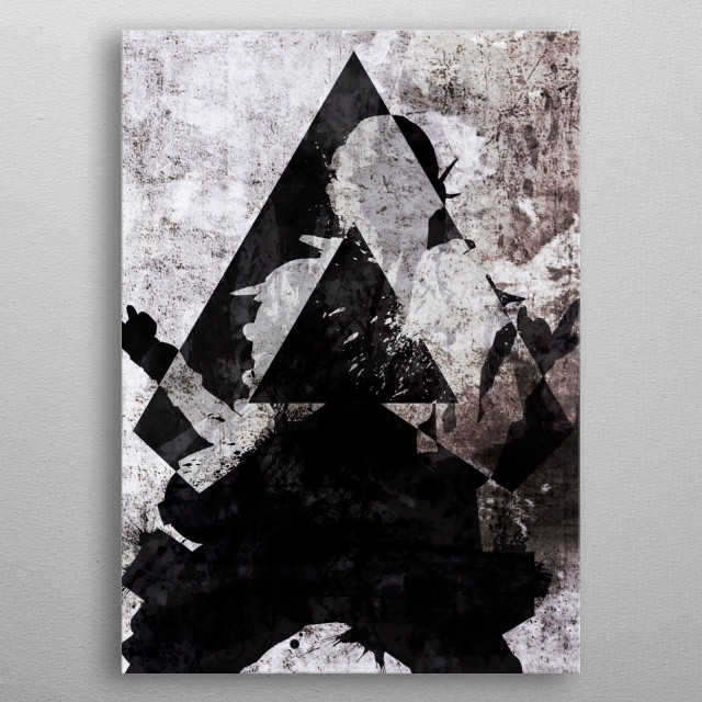 Octane Grunge Apex Legends metal poster