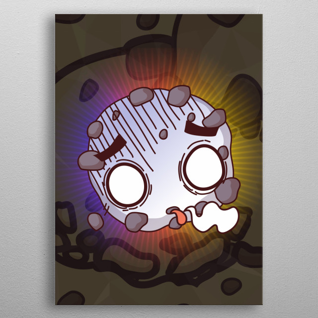 Dead Cookie on Cookie Background metal poster
