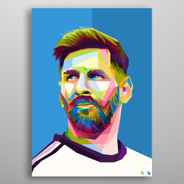 Leonel Messi in WPAP metal poster