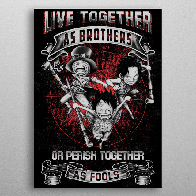 One Piece Anime Motivation Quotes metal poster