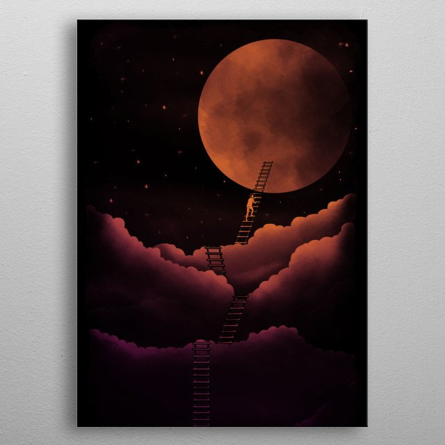 a surealistic design, hope you like it. metal poster