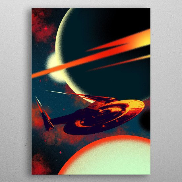 Discovery metal poster