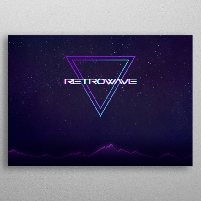 Retrowave Aesthetic by Rihen Naik | metal posters - Displate