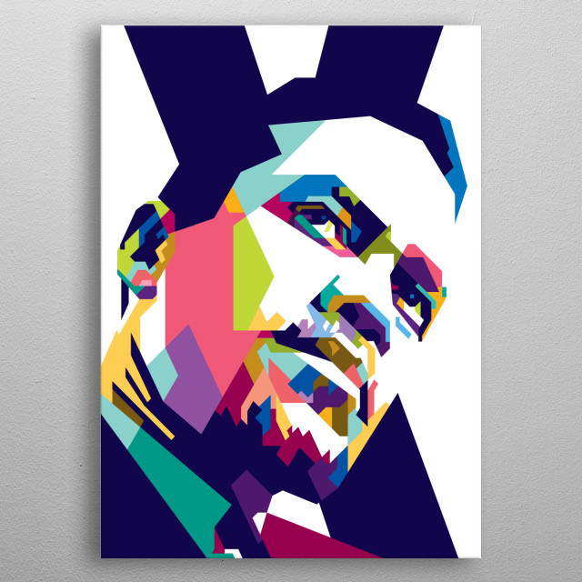 Malcolm X was an American Muslim minister and human rights activist who was a popular figure during the civil rights movement. metal poster