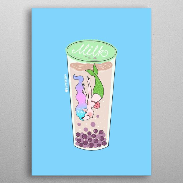 Illustration inspired of foods I love.  metal poster