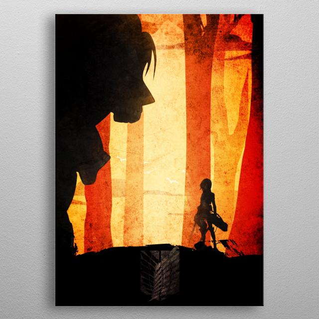 Mikasa - Attack of titan metal poster