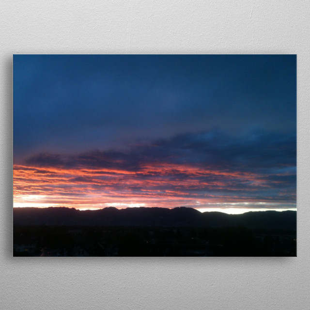 Wonderful landscapes with glorious sunset, magic clouds and beautiful impression. metal poster