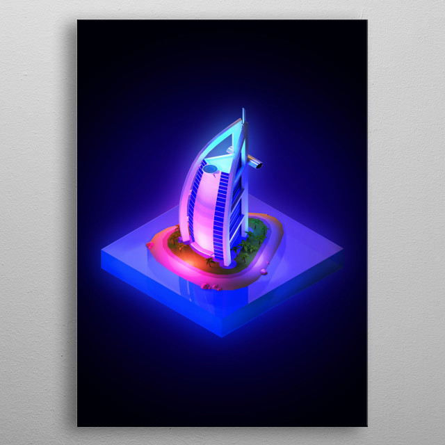 High-quality metal print from amazing Low Poly collection will bring unique style to your space and will show off your personality. metal poster