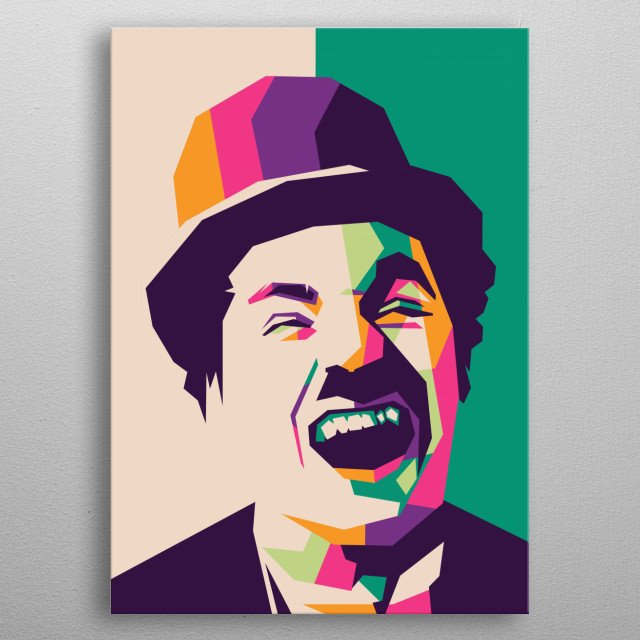 Sir Charles Spencer Charlie Chaplin, KBE is a British composer, filmmaker and comedy actor famous in the era of silent films.  metal poster