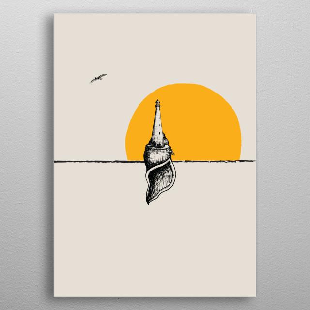 lighthouse metal poster