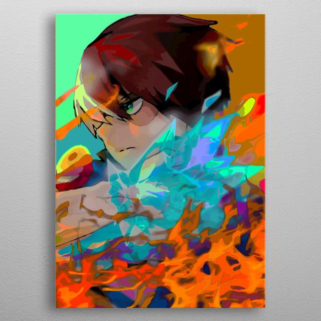 Explosion hero metal poster
