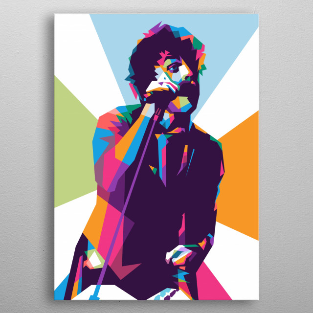 Billie Joe Armstrong is a singer and guitarist from the music group Green Day.  metal poster