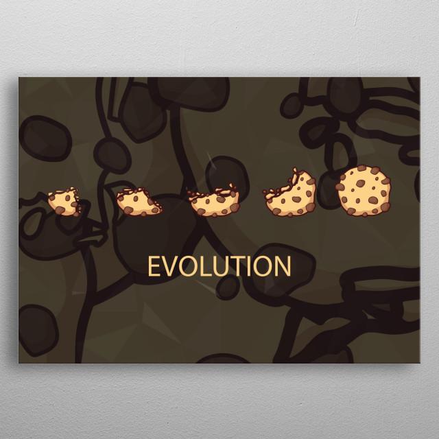 Cookie Evolution metal poster