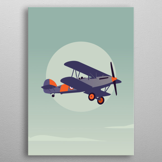 Inspired by england world war plane metal poster