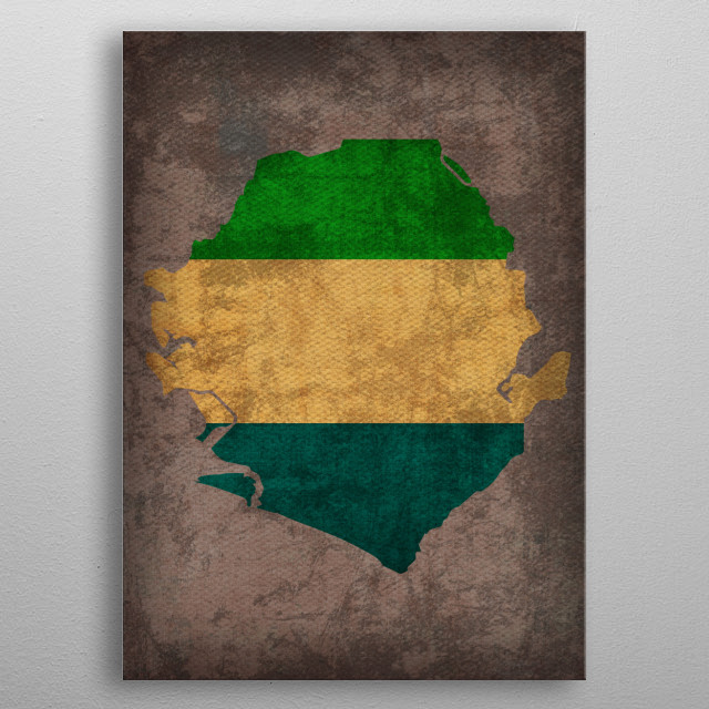 High-quality metal print from amazing Country Flag Maps On Old Canvas collection will bring unique style to your space and will show off your personality. metal poster