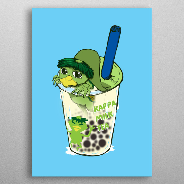 In this hot season, drink a milk tea to cool down ~ metal poster