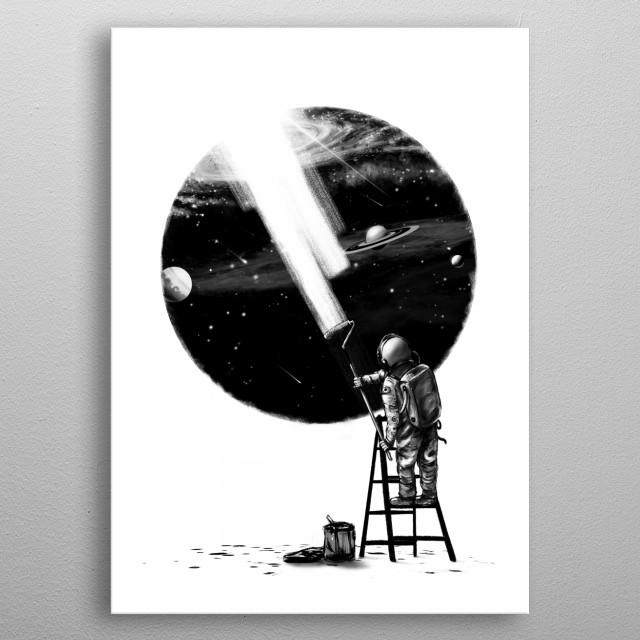 Spaceman needs more. metal poster