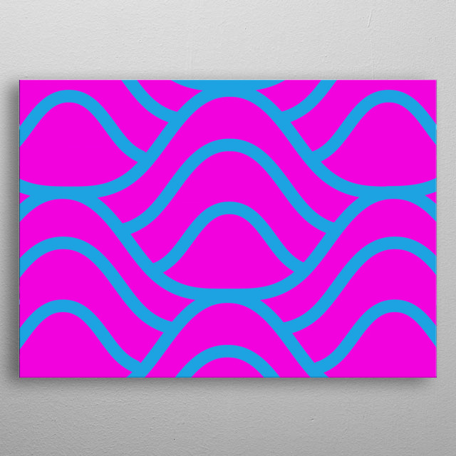 Traditional 80s aesthetic seamless pattern metal poster