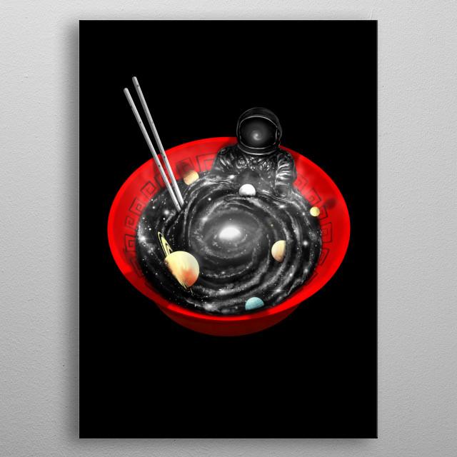 Soak in to this hot cosmic bowl. metal poster
