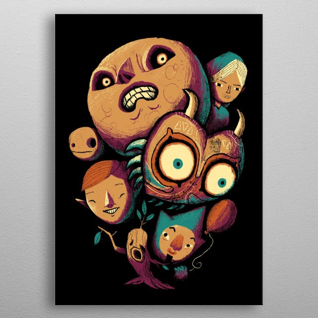 don't be scared, its only a videogame!  metal poster