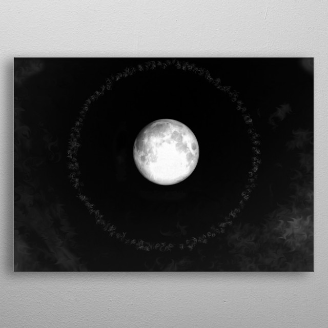 Inspired by my love of moon halos. metal poster