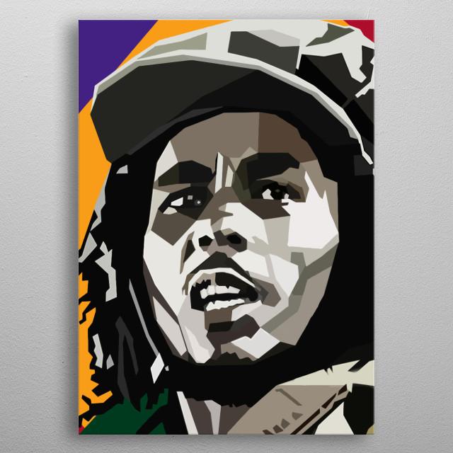 Rasta Man Design Just For Bob Marley Lovers. metal poster