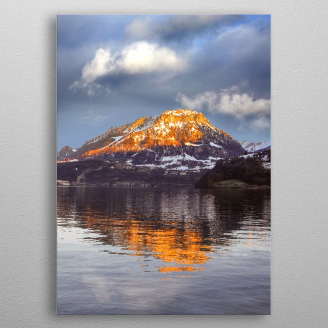 Landscapes of Switzerland Image by Chantelle Flores  metal poster