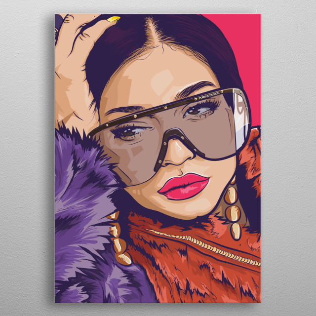 Celebrity Kylie Jenner metal poster