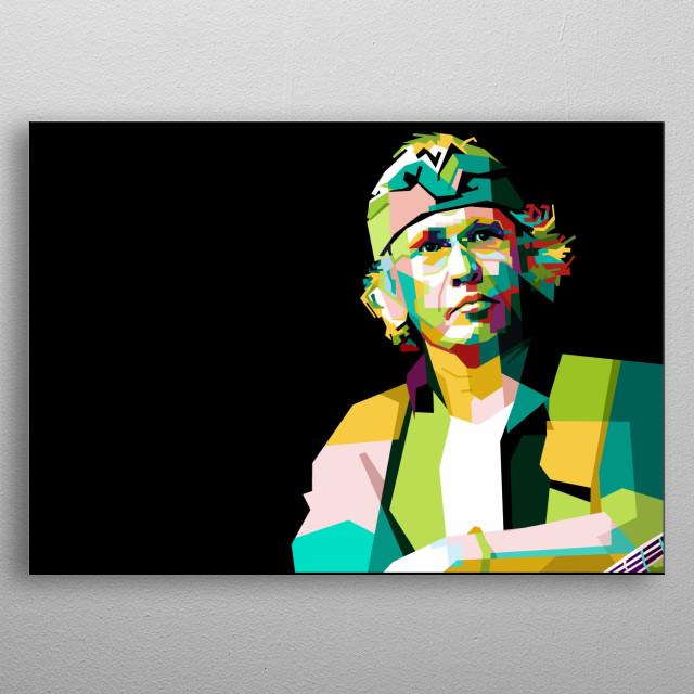 Iwan Fals In Pop Art Wpap Inspirational Poster Print Metal