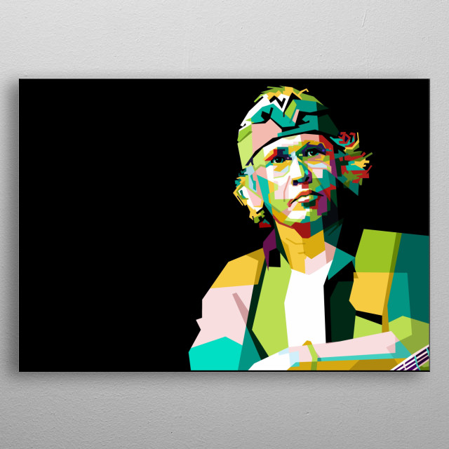 This is musisi legend of Indonesia in Wpap Pop Art Design coolourfull metal poster