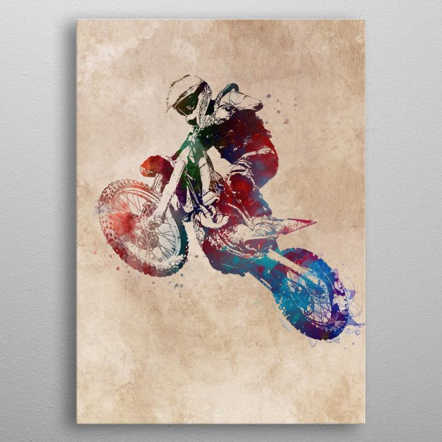 This marvelous metal poster designed by jbjart to add authenticity to your place. Display your passion to the whole world. metal poster