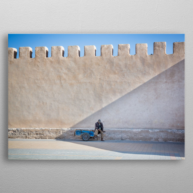 People of Essaouira | Image by Chantelle Flores  metal poster