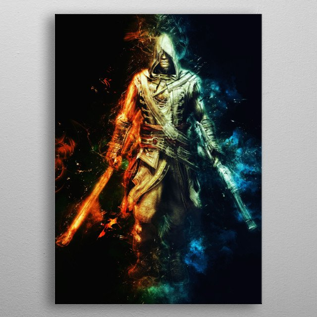Adewale Freedom Cry DLC  Assassin's Creed metal poster